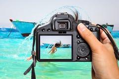 Ferien in Rotem Meer von Egyp Lizenzfreies Stockfoto