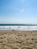 Ferien am Strand Stockbild