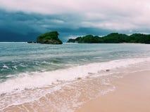 Ferien-Strand auf Osttimor, Indonesien Stockfotos