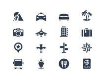 Ferien- und Reiseikonen Lizenzfreies Stockbild