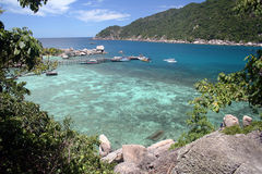 Ferieninsel und -meer Lizenzfreie Stockbilder