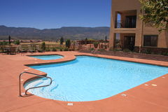 Ferienrücksortierung-Swimmingpool Stockfoto