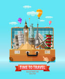 Ferienvektorlogo-Designschablone Reise Lizenzfreies Stockfoto