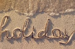 Ferieord på stranden Arkivfoton