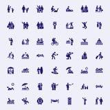 Feriepinnediagram vektor illustrationer