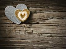 Ferier card med hjärta Fotografering för Bildbyråer