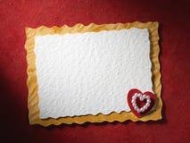 Ferier card med hjärta Arkivfoton