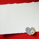Ferier card med hjärta Arkivbild