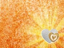 Ferier card med hjärta som ett symbol av förälskelse Fotografering för Bildbyråer