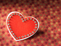 Ferier card med ordförälskelse och hjärta Royaltyfria Foton