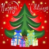 Ferier för semesterperiod för nytt år för Xmas-jul lyckliga Arkivbilder