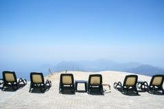 ferier i bergen Arkivfoto