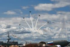 Ferier i St Petersburg Arkivfoto