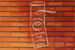 Ferier och turism: Älska hotelllivet Arkivfoto