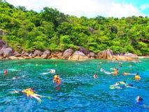 Ferier på öar Royaltyfria Foton