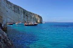 Ferier till det Ionian havet Arkivbilder