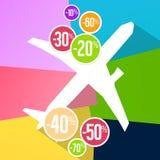 FerieSale procent Fotografering för Bildbyråer