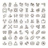 Feriesymbolsuppsättning stock illustrationer