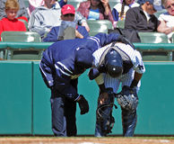 Ferimento do basebol do campeonato menor Imagens de Stock