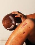 Ferimento do futebol do ACL. Imagens de Stock Royalty Free