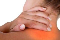 Ferindo a garganta e o ombro Imagem de Stock Royalty Free