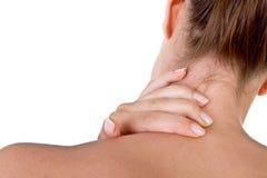 Ferindo a garganta e o ombro Imagens de Stock