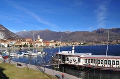 Feriolo Baveno, Lago Maggiore, Италией стоковая фотография rf
