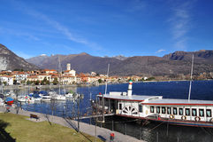 Feriolo vid Baveno, Lago Maggiore, Italien royaltyfri fotografi