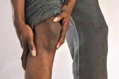 Ferita al ginocchio Fotografia Stock