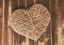 Ferita di simbolo del cuore con la corda Immagini Stock