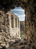 Feritoia fortificata della parete Fotografia Stock Libera da Diritti