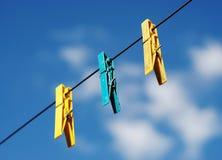 ferma la lavanderia con una graffetta Immagini Stock