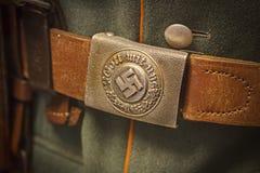 Fermaglio e cinghia tedeschi dell'esercito del nazi dalla seconda guerra mondiale Fotografie Stock Libere da Diritti