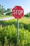 Fermata del segnale stradale Fotografie Stock