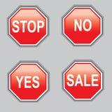 Fermata del segno sì nessuna vendita Immagini Stock
