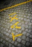 Fermata del taxi Fotografia Stock