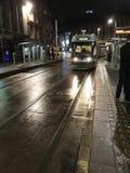 Fermata del tram del quadrato del mercato di Nottingham fotografie stock libere da diritti