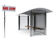 Fermata dell'autobus Fotografie Stock