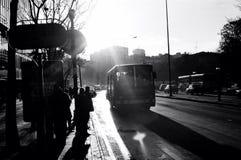 Fermata dell'autobus immagini stock libere da diritti