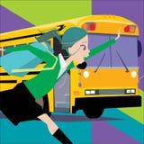 Fermata dell'autobus Immagine Stock