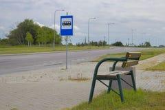 Fermata dell'autobus Fotografia Stock Libera da Diritti