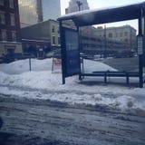Fermata dell'autobus Fotografia Stock