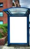 Fermata dell'autobus con il bilboard in bianco HDR 03 Fotografia Stock