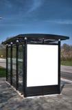 Fermata dell'autobus con il bilboard in bianco HDR 06 Fotografie Stock Libere da Diritti