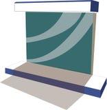 Fermata dell'autobus con il tabellone per le affissioni per annunciare immagini stock