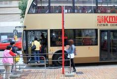 Fermata dell'autobus a Hong Kong Immagini Stock