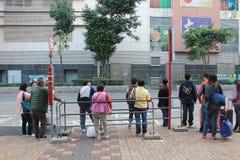 Fermata dell'autobus a Hong Kong Fotografia Stock Libera da Diritti