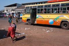 Fermata dell'autobus India Fotografie Stock
