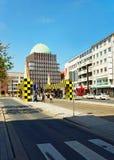 Fermata dell'autobus Steintor di Hannover in Germania Fotografia Stock