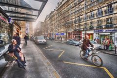 Fermata dell'autobus sul DES della ruta Franco-borghese Immagini Stock Libere da Diritti